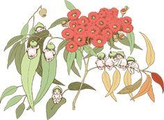Image result for may gibbs Australian Wildflowers, Australian Flowers, Australian Animals, Australian Artists, Flower Fairies, Flower Art, Christmas Illustration, Illustration Art, Australian Christmas
