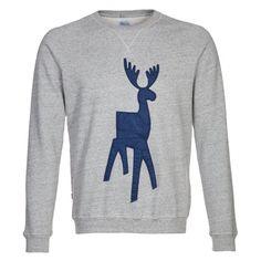 Grauer #Pullover mit Filzrentier, nicht nur im #Winter ein Highlight! ab 59,95€ Hier kaufen: http://stylefru.it/s849636 #pulli #grau #sweater #rentier #filz