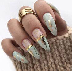 nails natural look - nails natural look ; nails natural look gel ; nails natural look acrylic ; nails natural look short ; nails natural look manicures ; nails natural look with glitter ; nails natural look almond ; nails natural look simple Cute Almond Nails, Cute Nails, Pretty Nails, My Nails, Cute Fall Nails, Fall Almond Nails, Almond Nails Designs Summer, Almond Nail Art, Grow Nails