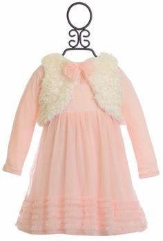 Mini Mini Unique Baby Girls Dress with Fur Vest Baby Blue Prom Dresses, Baby Shower Dresses, Flower Girl Dresses, Vest Outfits, Newborn Outfits, Baby Boy Outfits, Baby Shower Outfit For Guest, Baby Girl Boutique, Adventure Outfit