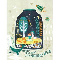"GreenBox Art 'Terrarium Dreams' by Irene Chan Graphic Art on Canvas Size: 18"" H x 14"" W"