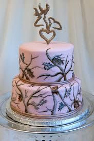 For the most part, wedding cakes are layered or multi-layered and are heftily decorated with icing, beads, and other decorations that would reflect the grand of the occasion. On the top is a small picture of a bride-to-be and groom. Camo Wedding Dresses, Camo Wedding Cakes, Country Wedding Cakes, Pink Camo Cakes, Camo Birthday, 12th Birthday, Birthday Cake, Shoe Cakes, Purse Cakes