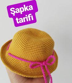 Hello ler I& sharing hat recipe, I hope it works ap Örenler . Crochet Beret, Crochet Toys, Hat Making, Free Pattern, Cross Stitch, Women Wear, Embroidery, Knitting, Sewing