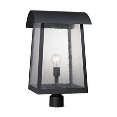 Prince Street 1 Light Outdoor Post Lamp In Matte Black 8721EP/65