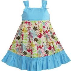 Girls Dress Tank Floral Print Holiday Boutique Children Clothes Size 12M 18M 2 3 4 5 6 NWT Sunny Fashion, http://www.amazon.com/dp/B00960TZS8/ref=cm_sw_r_pi_dp_YhlMqb0GKX7CN