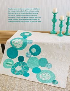 Modern Quilts Unlimited - Fall 2013 - Page 32. I really like the aqua and white. #modernquilt #colorcombination #inspiration www.marycoveydesigns.com
