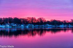 Sunrise on Little Barbee Lake