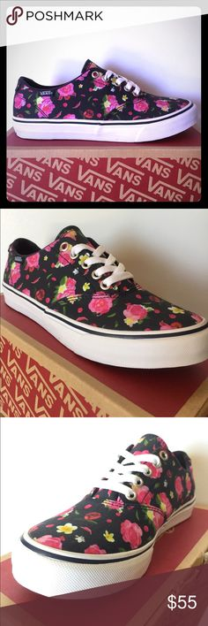 BRAND NEW Vans Winston Floral Print!!! BRAND SPANKIN' NEW Vans Winston with Pink Floral Print Features Flower Print throughout, white laces, padded insole and gum outsole. Not made anymore! DON'T MISS OUT!!! Women's 6 1/2 Vans Shoes Sneakers