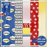 Super Comic Printable Background Kit  {Rhonna Farrer Designs}