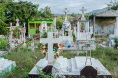 Mexican cemetery, San Pancho, Nayarit, Mexico