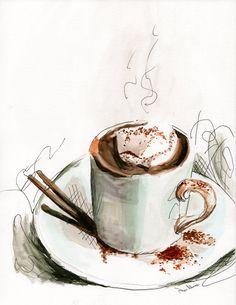 Would you like some coffee? by Helen Osadcha on Etsy https://www.etsy.com/treasury/NTUyMTg2NzR8MjcyNzI0NjkwNg/would-you-like-some-coffee