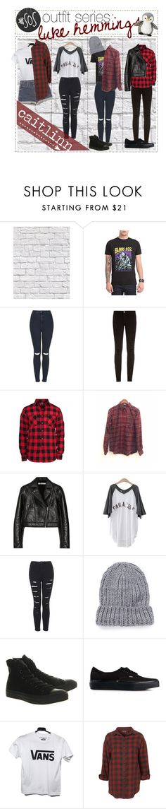 """""""5sos outfit series: Luke Hemmings"""" by the-amazing-tip-chickas ❤ liked on Polyvore featuring Milton & King, Topshop, Frame Denim, T By Alexander Wang, PEPER, The Elder Statesman, Converse, Vans and Wrangler"""