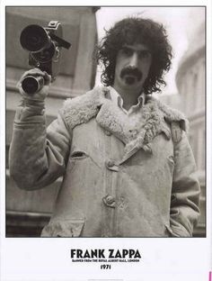 A classic poster of jazz-rock legend Frank Zappa who was banned from London's…