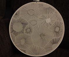 petoskey stone inspired embroidery