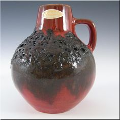 Kreutz Keramik Fat Lava Pottery Ceramic Vase / Jug - Label - £29.99