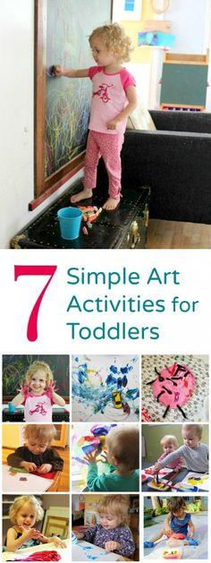 Age-appropriate toddler art activities. Plus tips for doing art with toddlers and some great resources.
