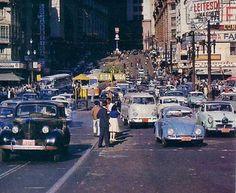 Sao Joao Avenue in the sixties - Sao Paulo, Brazil