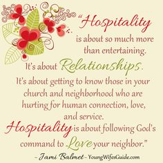 Hospitality is about so much more than entertaining...