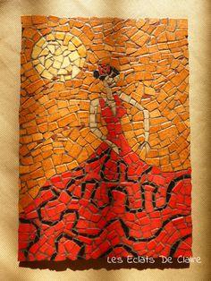Tableau 'La danseuse de flamenco', mosaïque