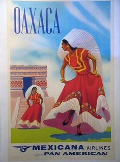 travel poster mexico | ... - Mexico Western Airlines - Mexico City Mexicana - Cozumel Mexico