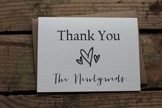 Thank You from the Newlyweds Set of 10