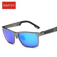 99ea67e4ed8 Simvey 2017 New Mens Golf Polarized Sunglasses Blue Lens Luxury Brand  Designer Aluminum Alloy Driving Sunglasses