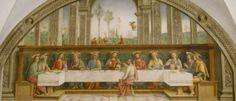 Cenacolo di Fuligno - Firenze - Perugino - Ultima cena - 1493-1496 - affresco