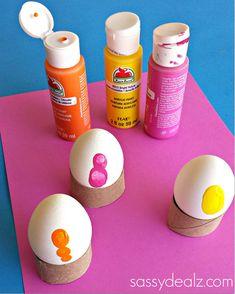 fingerprint easter egg decorating
