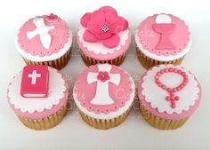 First Communion Cupcakes - by CupcakeCity @ CakesDecor.com - cake decorating website