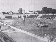The Natatorium was the largest heated saltwater pool in the world.
