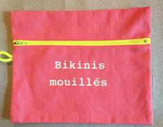 #pochette #bikinismouilles #plage #summer #beach #zipneonjaune