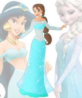 disney fusion: Elsa and Jasmine by Willemijn1991