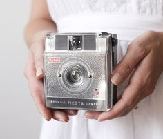 Kodak Brownie Fiesta by Smile Mercantile @ Uncovet  //  Vintage Camera - Kodak Brownie Fiesta, 60s Mod, with Flash and Box