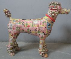 paper mache poodle - Google Search