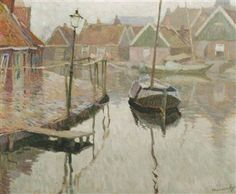 The harbour of Volendam By Maurice Sijs