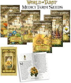 Unique Seed Packs - Medici Tarot Seeds, From WorldOfTarot.com Tarot, Flower Seeds, Make A Wish, Magick, Bloom, Mindfulness, Gardening, Signs, Watch
