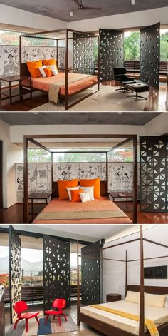 Bedroom with jaali patterns