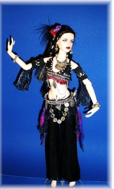 Tribal Fusion Gothic Belly Dancer Doll
