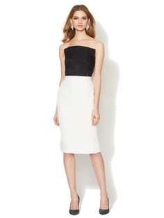 Strapless Colorblock Dress by Lanvin at Gilt