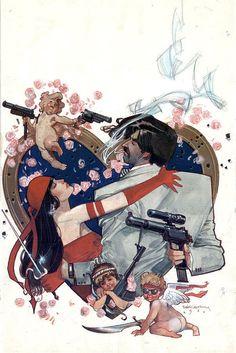 Elektra Assassin #4 cover by Bill Sienkiewicz