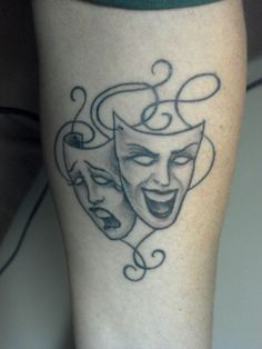 Tragedy and Comedy.  Represents some major turning points in my life ... each point marked by both tragedy and comedy.  In addition, it's a fitting tattoo for a Mardi Gras crazed guy from southern Louisiana. (Tattoo is located underside left forearm)