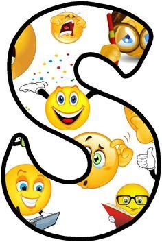 Alphabet Design, Alphabet Art, Emoji Decorations, Emoji 2, Sunday School Classroom, Baby Barn, Alphabet Pictures, Hello Kitty, Emoji Images