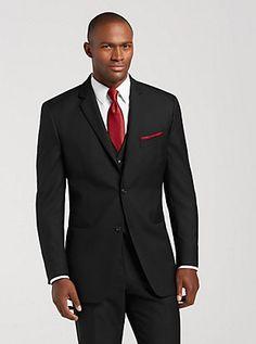 Men's wedding suits - Pronto Uomo Black Notch Lapel Suit Tuxedo Rental | Men's Wearhouse