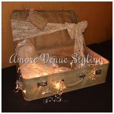 #wedding #decor #postbox #vintage #suitcase