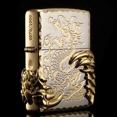 Japanese Golden Tribal Dragon Zippo Limited Edition