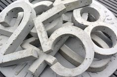 Beton Hausnummer - Concrete House Number - Hand-Made