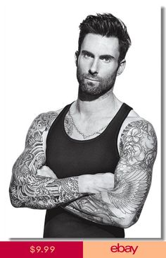 Who knew Adam Levine was so romantic! The Maroon 5 singer made the ultimate love declaration to his significant other Behati Prisloo by getting a Adam Levine Tattoos, Maroon 5, Tatuagens Do Adam Levine, Moustache, Yoga For Flat Belly, Actrices Hollywood, Jamie Mcguire, Star Wars, Hommes Sexy