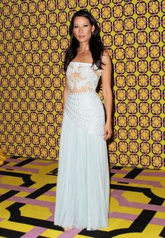 Lucy Liu in an Atelier Versace gown for the HBO's Official Emmy After Party at The Plaza at the Pacific Design Center.