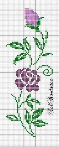 This Pin was discovered by HUZ Cross Stitching, Cross Stitch Embroidery, Embroidery Patterns, Hand Embroidery, Cross Stitch Rose, Cross Stitch Flowers, Cross Stitch Designs, Cross Stitch Patterns, Crochet Double