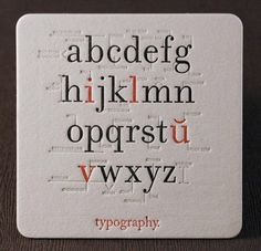 typography coaster typography
